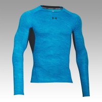 UNDER ARMOUR HeatGear  Printed Compression Longsleeve Tee, pánske kompresné tričko
