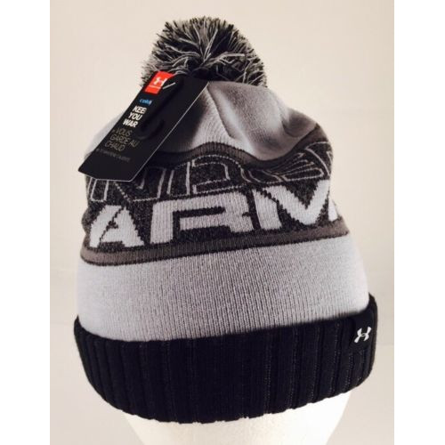 UNDER ARMOUR Boys' Silver Gray/Black, chlapčenská čiapka