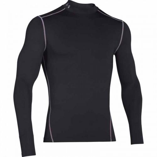 UNDER ARMOUR Cold Gear Armour Mock Black, pánske kompresné tričko
