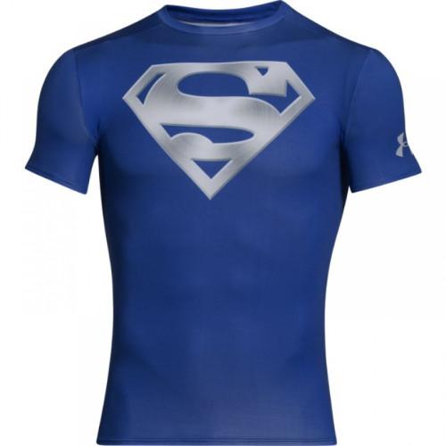 Modré Kompresné Pánske Tričko HeatGear® Alter Ego Chrome