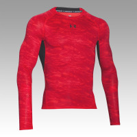 UNDER ARMOUR HeatGear ARMOUR Printed Compression Longsleeve Tee, pánske kompresné tričko