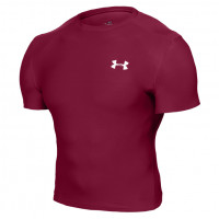 Mens UA HeatGear Sonic Compression Short Sleeve Purple